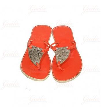 tongs ines orange