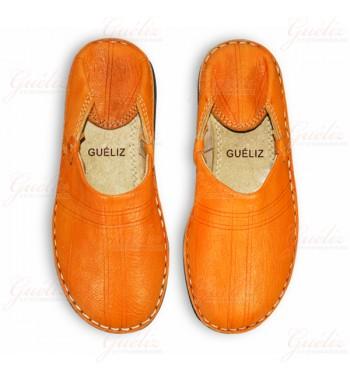 babouche berbere orange