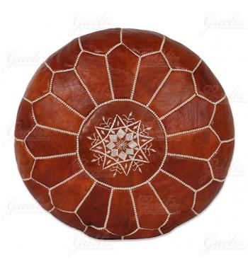 pouf en cuir maroc