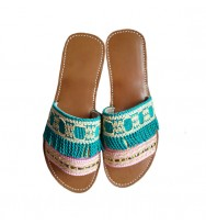SANDALES SONIA TURQUOISE