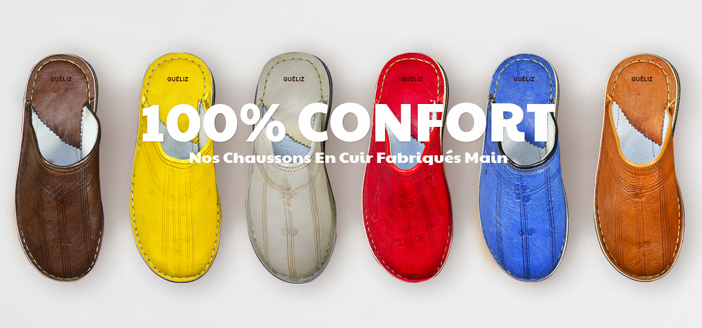 babouches chaussons cuir